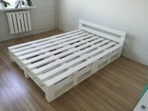 łóżko Do Sypialni Z Palet Heblowane