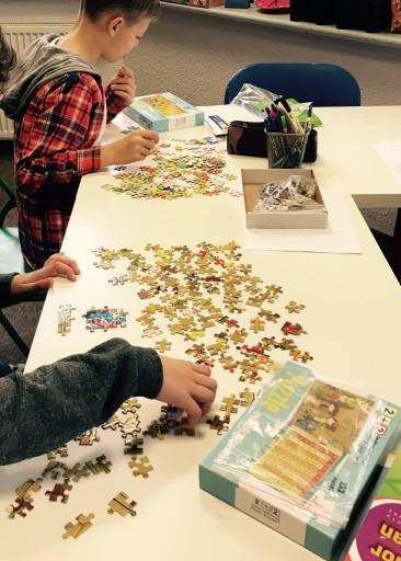 Gra Puzzle Tabliczka Mnożenia - 2 obrazki.