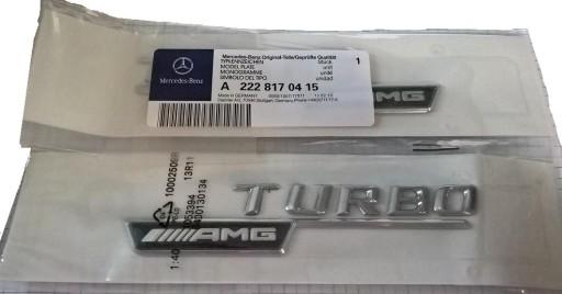 2 szt. emblemat na błotnik Mercedes turbo AMG