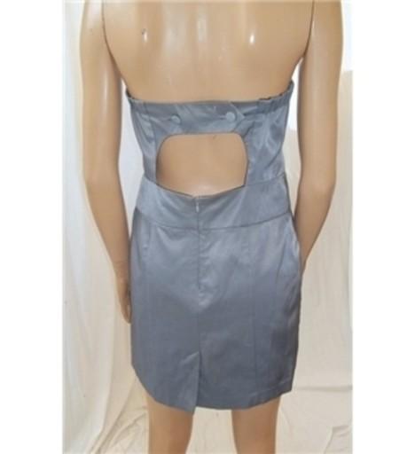 Sukienka ołówkowa gorset srebrna Miss Selfridge 42
