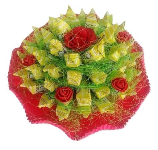 Aktualne Bukiet z cukierków 50 krówek prezent urodziny ślub 7667445400 KK17