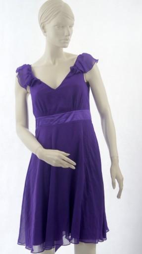 Holly Willoughby romantyczna liliowa sukienka 38