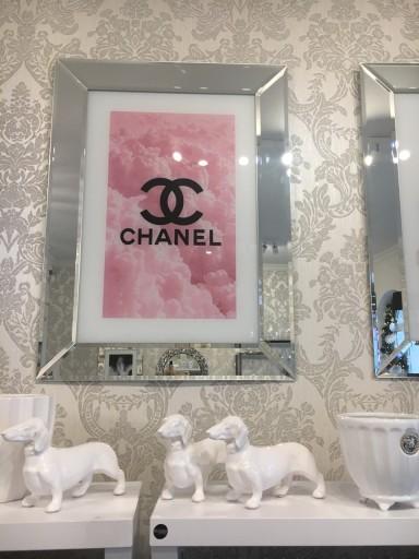 Obraz Chanel W Lustrzanej Ramie 76x56 7368580313 Allegropl