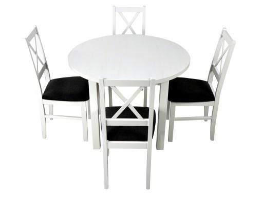 Biały Okrągły Stół 4 Krzesła Do Kuchni