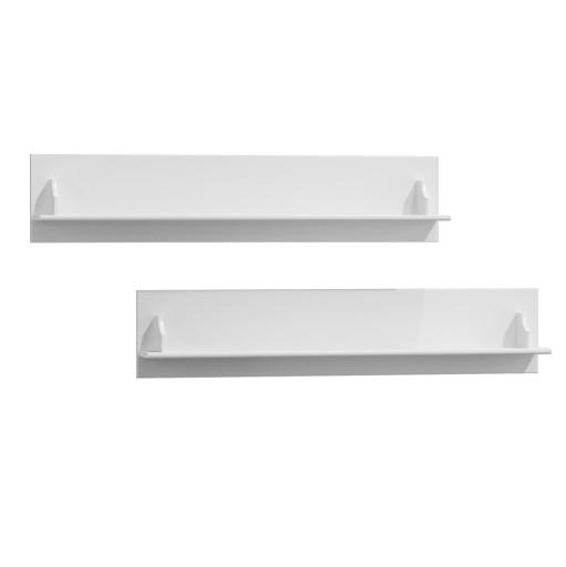 Półki Wiszące Białe Drewniane Belluno Okazja Pl008