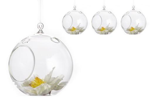 Szklane Kule świeczniki Do Dekoracji 10cm 4szt