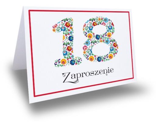 Młodzieńczy Zaproszenie zaproszenia na 18 urodziny osiemnastkę 7045726191 DW21