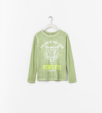ZARA GIRLS bawełniana bluzka tygrys 3-4 lata 104cm 7665898741 Dziecięce Odzież XF ETNSXF-5