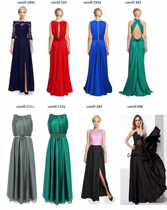 Camill 193a szafirowa długa suknia wieczorowa 52 7621558507 Odzież Damska Sukienki wieczorowe AV JQFJAV-5