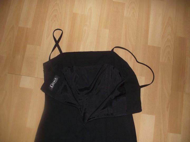 DEBUT długa czarna z żorżety z koronką r 12 9747965679 Odzież Damska Sukienki wieczorowe LA MZNSLA-7