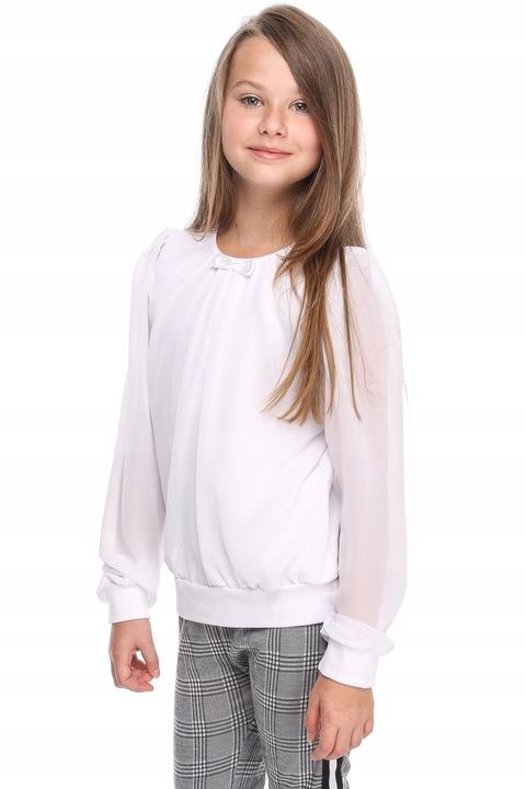 dziewczęca BLUZECZKA z szyfonowym RĘKAWEM r.110 7669619253 Dziecięce Odzież CZ SYUJCZ-8
